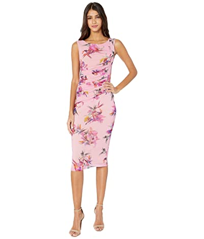 FUZZI Sleeveless Knee Length Uccello Del Paradiso Print Dress (Fiore) Women