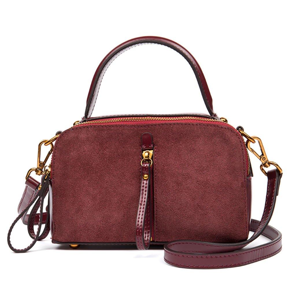 海のミステリー(HMILY)新しい高品質レザーレディースファッションハンドバッグミニレトロな小さな正方形のバッグトレンド多用途のショルダーメッセンジャーバッグH 7000赤茶色