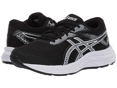 ASICS Kids Gel-Excite 6 (Little Kid/Big Kid) (Black/White) Boys Shoes