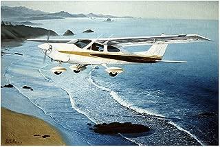 Cessna Travel Art Print Poster by Mike Bennett (12