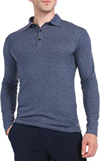 Yostylish Men's Golf Polo Long Sleeve Shirts Outdoor Casual Athletic Workout T Shirt