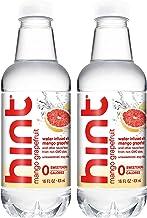 Hint IUYEHDUH Water, Mango Grapefruit, 16 Ounce 2 Pack