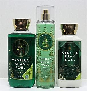 Bath and Body Works Vanilla Bean Noel Shower Gel, Body Lotion, Fine Fragrance Mist Daily Trio Gift Set 2018