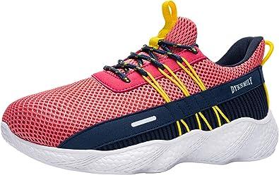 Fenlern Zapatillas de Seguridad Mujer Ligeras Zapatos de Seguridad Trabajo Punta de Acero Calzado de Seguridad con Colchón de Aire