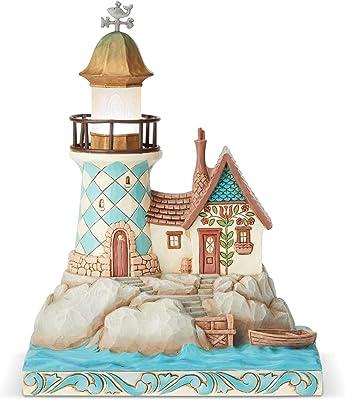 "Enesco Jim Shore Heartwood Creek Coastal Lighted Lighthouse Figurine, 7.5"""