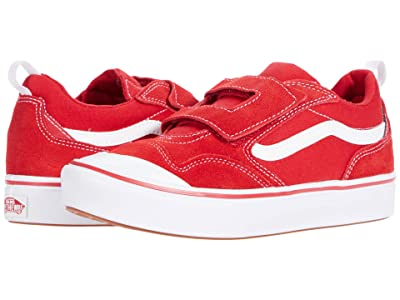 Vans Kids ComfyCush New Skool V (Big Kid) (Racing Red/True White) Kid