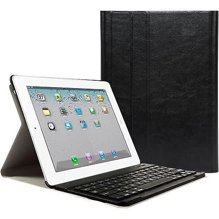 CoastaCloud iPad 2 3 4 Funda con Teclado Bluetooth iPad 2/3/4 Funda Cubierta Protectora con Teclado Inalambrico QWERTY Español (Negro)