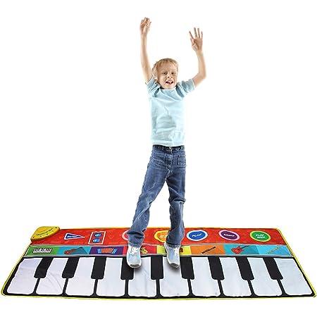 Elibeauty Alfombrilla de piano para niños, alfombrilla de ...