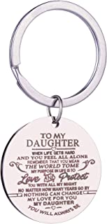Family inspirational Keychain Gifts Engraved Words To my Son/Daughter Key Ring you will always be my daughter Car key Ring