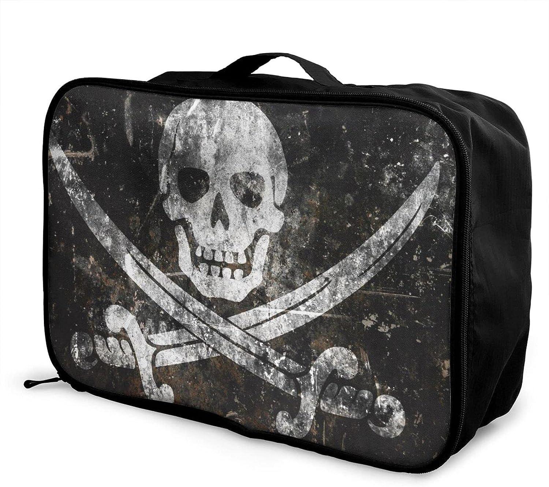 Large Capacity Travel Bag Pirate Skull Clothes Flag Sto New life Mesa Mall Toiletry