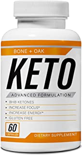 Bone and Oak Diet Keto Pills | Apple Cider Vinegar | Best Exogenous Supplement Utilize Fat for Energy | Boost Metabolism | Advanced Ketogenic Appetite Suppressant for Women & Men | Ultra Fast Ketosis