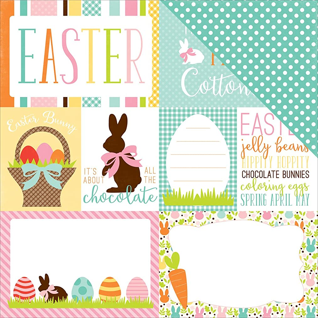 Echo Park Paper EA100002 Easter Double-Sided Cardstock (25 Sheets Per Pack), 12
