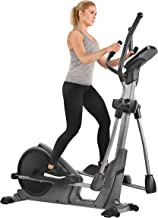 Sunny Health & Fitness Advanced Programmed Elliptical Machine Trainer with Electromagnetic Resistance