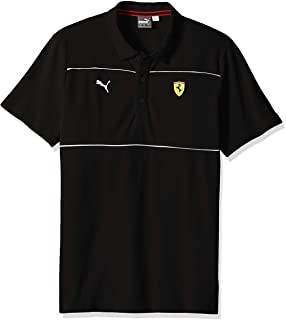 PUMA Men's Scuderia Ferrari Polo Shirt, -soft pink puma black, L