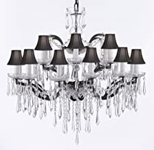19th C. Baroque Iron & EMPRESS Crystal (TM) Chandelier Lighting CRYSTAL ICICLES H 28