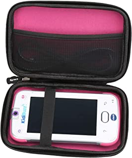 Aproca Hard Storage Travel Case Bag for VTech KidiBuzz / VTech KidiBuzz G2(Black - Inner Pink)