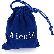 AieniD Boda Banda Compromiso Anillo Chapado en Plata Anillo para Mujer Inclinación CZ