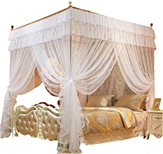 1.52 m Mosquito Net for Double Insect Reject Net Bed Curtains Mosquito Repellent Tent White,01