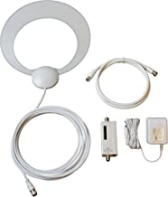 ClearStream Eclipse Amplified Indoor HDTV Antenna with Sure Grip Technology - 50 Mile Range