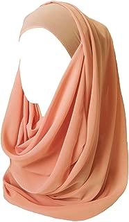 Lina & Lily Solid Color Thick Chiffon Muslim Hijab Long Scarf