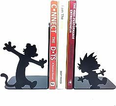 HeavenlyKraft Steel Calvin and Hobbes Metal Bookends (Black)