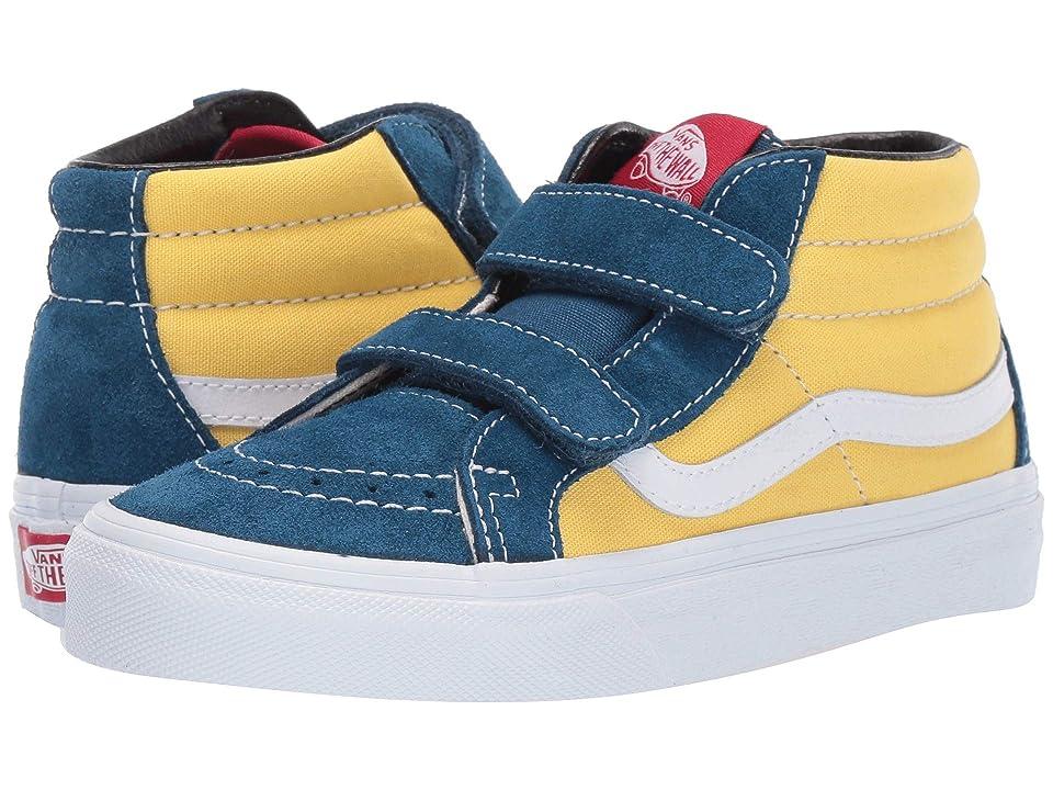 Vans Kids SK8-Mid Reissue V (Little Kid/Big Kid) ((Retro Skate) Sailor Blue/Aspen Gold) Boys Shoes