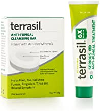terrasil® Anti-fungal Treatment MAX + Anti-fungal Cleansing Soap - 6X Faster Doctor Recommended 100% Guaranteed All-Natural Soothing Clotrimazole OTC-Registered - Complete Treatment- 14g + Bar