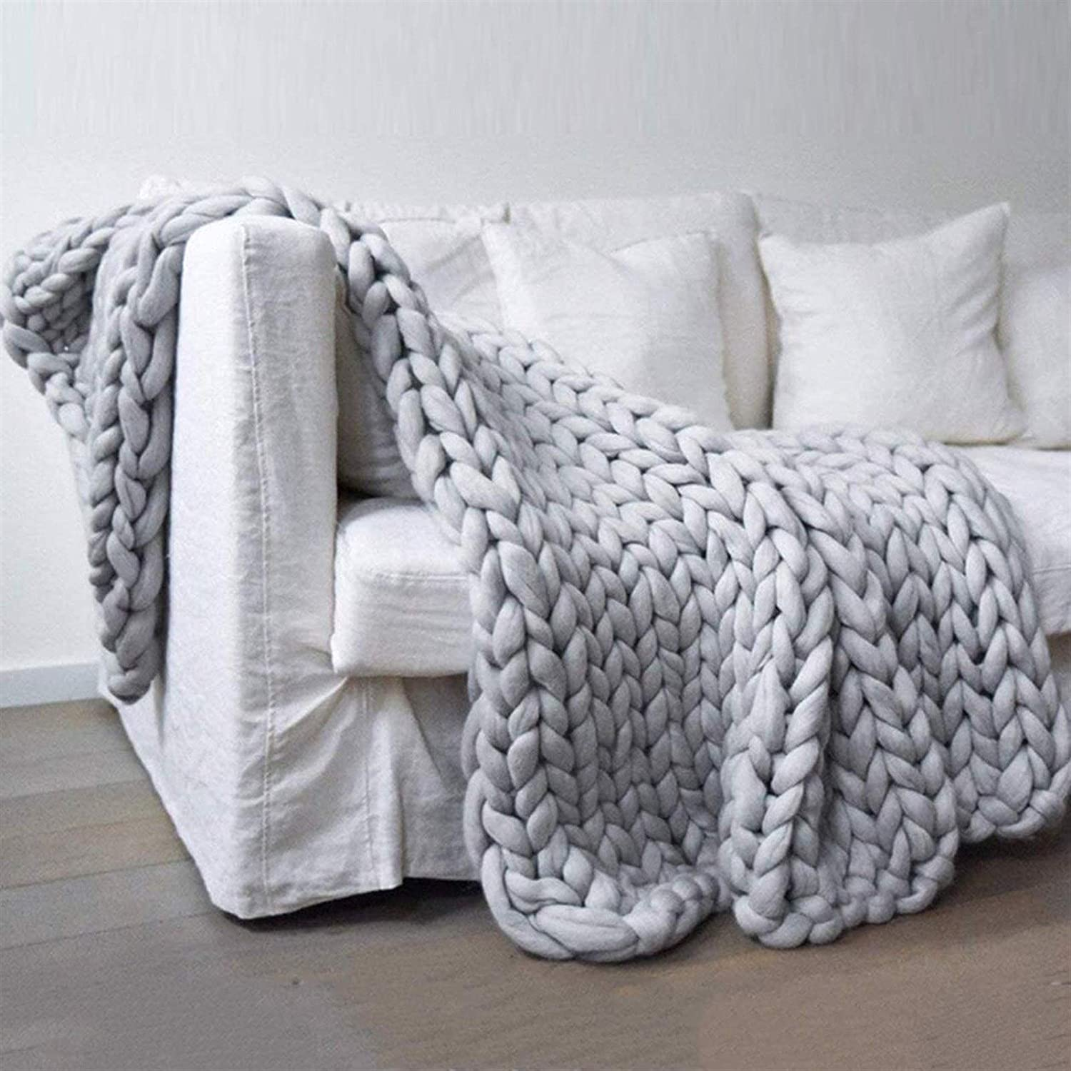 JGYZD Hand Knitting Blanket - Soft Decor Throw Surprise price Beautiful Home Cheap bargain