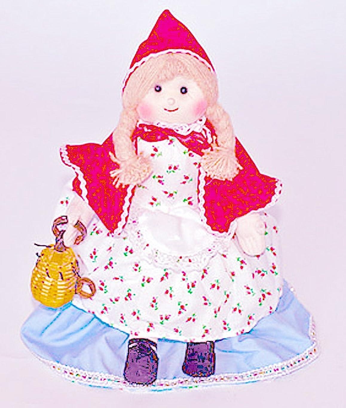 手錠寄稿者ダメージ布人形 変身人形 フリップオーバードール 赤ずきんちゃん/バスケット付き 変身人形 お話の世界