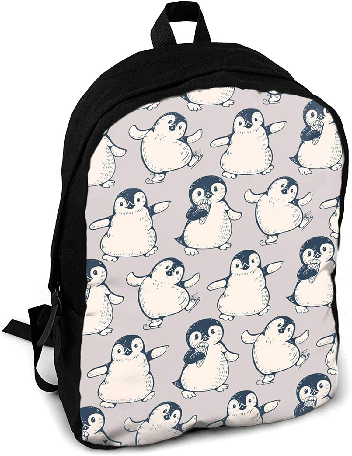 YISHOW Cute Penguins Women Men for Casual School Bag Outdoor Travel Camping Backpack