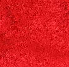 Shannon Fabrics Shannon Faux Fur Luxury Shag Fire Red Fabric By The Yard