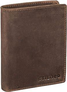 STILORD 'Sawyer' RFID Cartera Hombre Piel Billetera Cuero Vintage Monedero Masculino para Tarjetas Monedas y Billetes de A...