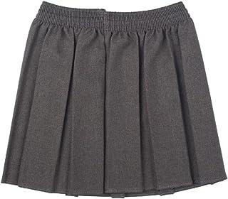 Nueva Ou Niñas Uniforme Escolar Caja Plisado elástico Falda Schoolwear tamaño 2 – 17yrs
