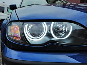 Kit cercles yeux dange LED coton 4 x 131 mm Canbus E46 E39 E38 E36 Blanc 6000 K Angel Eyes Halo Ring E-MARK