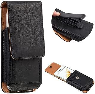 Premium PU Leather Swivel Belt Clip Phone Holster Pouch Carrying Case Wallet ID Card Holder for Galaxy S10 Plus / S8 Plus / J8 / A7 / LG V50 ThinQ / V40 ThinQ/Blu Vivo XL4 / Vivo 8 / Vivo Go (Black)