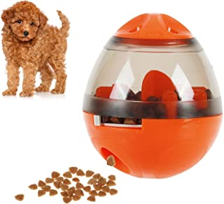 smartelf Pet Food Dispenser Ball Toy Dog Creative Tumbler Toy-Fun and Interactive IQ Treat-Dispensing Ball for Dogs & Cats: Increases IQ and Mental Stimulation(Pink)