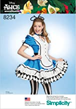 Simplicity 8234 Alice In Wonderland Halloween and Cosplay Costume Sewing Pattern, Sizes 14-22