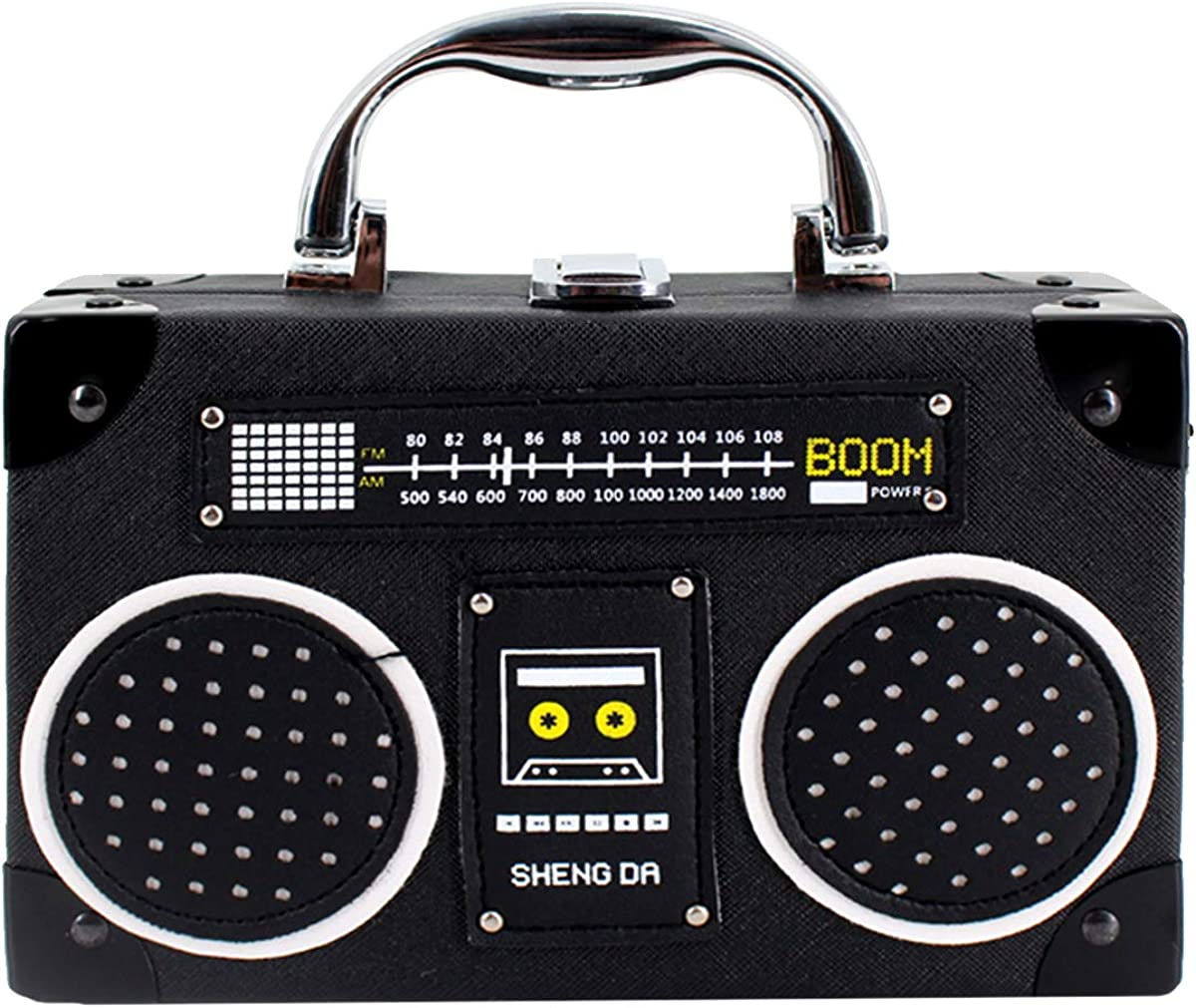 Heidi Bag lowest price Vintage Radio Clutch Top Handle Handbag Crossb OFFicial site Leather