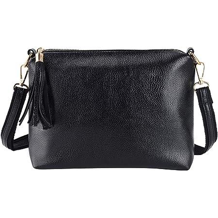 Damen Quaste Handtasche Kunstleder Schultertasche Mini Umhängetasche Crossover