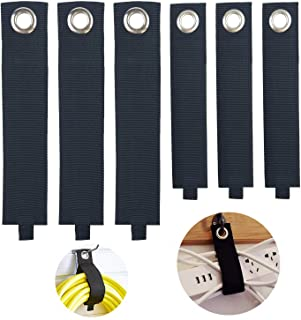 Heavy Duty Storage Straps by YiwerDer, 6 Assorted Pack 3M/3L, Hook and Loop Adjustable Strap Holder, Extension Cord Organi...