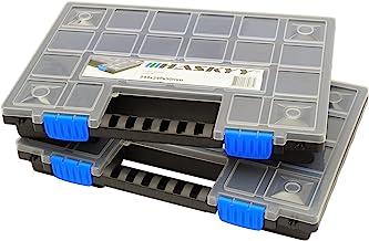 2x XL Organizer Assortimentskist sorteerbox stapelbaar 345x249x50mm I kleine onderdelen magazijn I schroefbox I gereedscha...