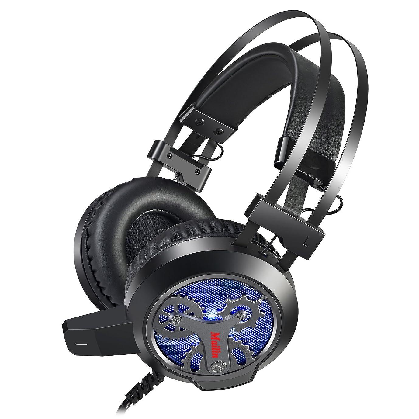 サーバント銅キャプチャーMailin g891ステレオゲーム用ヘッドセットProfessional Gamingヘッドフォン7.1チャンネルオーディオ/マイクノイズキャンセル/Adaptive Earmuffs グレイ MAI ERJI 01