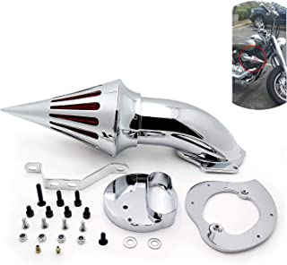 HTTMT MT225-009-CHROME Spike Air Cleaner kits Compatible with Yamaha V-Star 1100 Dragstar XVS1100 1999-2012