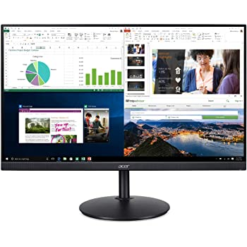 "Acer CB272 bmiprx 27"" Full HD (1920 x 1080) IPS Zero Frame Home Office Monitor with AMD Radeon Free Sync - 1ms VRB, 75Hz Refresh, Height Adjustable Stand with Tilt & Pivot (Display, HDMI & VGA ports)"