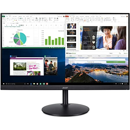 """Acer CB272 bmiprx 27"""" Full HD (1920 x 1080) IPS Zero Frame Home Office Monitor with AMD Radeon Free Sync - 1ms VRB, 75Hz Refresh, Height Adjustable Stand with Tilt & Pivot (Display, HDMI & VGA ports)"""