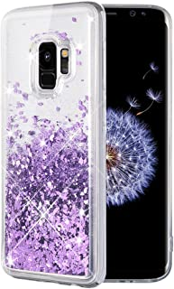 Caka Galaxy S9 Case, Galaxy S9 Glitter Case Liquid Series Luxury Fashion Bling Flowing Liquid Floating Sparkle Glitter Soft TPU Case for Samsung Galaxy S9 (Purple)