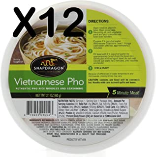 Snapdragon vietnamese Pho Bowls, 2 pack 12.6 Ounce