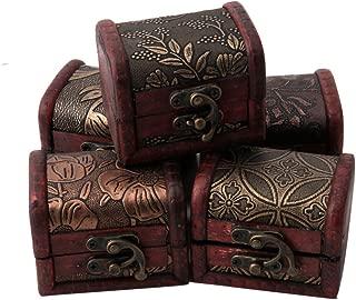 Stebcece Vintage Jewelry Pearl Necklace Bracelet Storage Holder Lock Wooden Case Gift Box