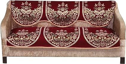 Daivik Cotton 3 Seater Sofa Cover (Set of 2), Size- Standard, Multicolor (Design-6)