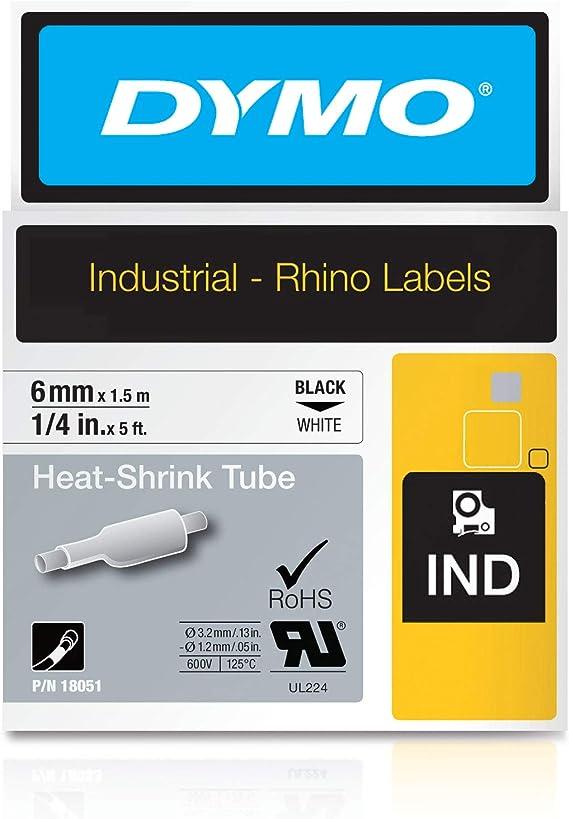 "OEM New DYMO 18052 RhinoPro Heat Shrink Tube Yellow 1//4/"""